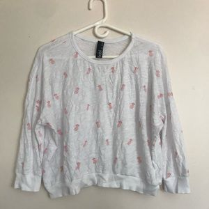 Cropped Pineapple 3/4 Sleeve Top